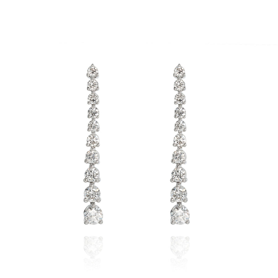 The5thC_Earrings_Vivian_18k white gold diamond round brilliant diamonds