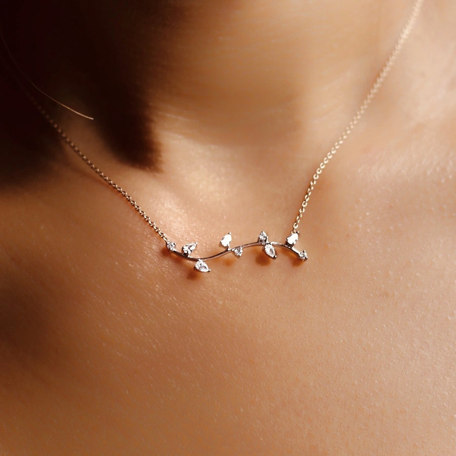 ATHENA White Gold Diamond Necklace
