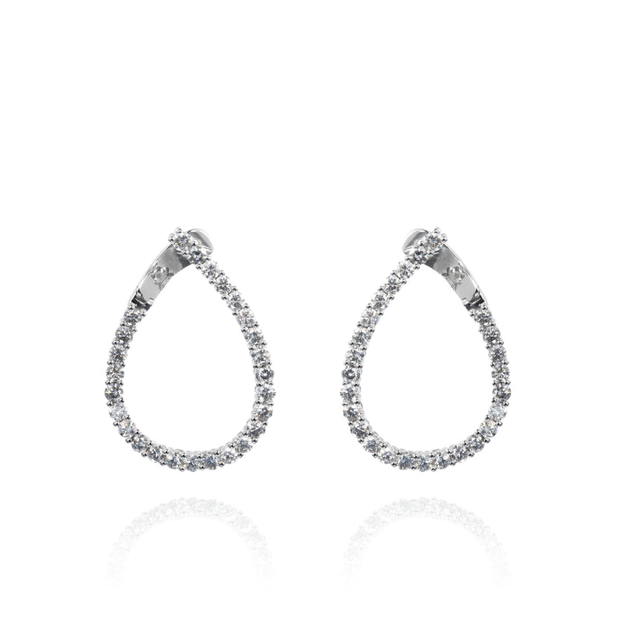 The5thC_Earrings_Harper_18k white gold diamond round brilliant diamonds