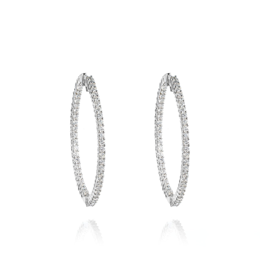 The5thC_Earrings_Maria_18k white gold diamond round brilliant diamonds