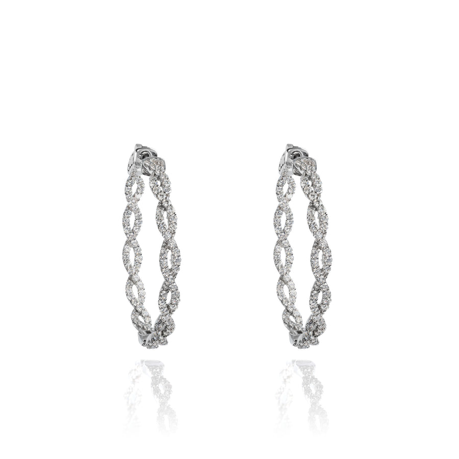 The5thC_Earrings_Mia_18k white gold diamond round brilliant diamonds