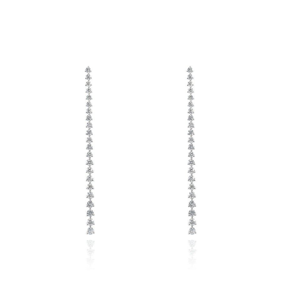 The5thC_Earrings_Shiree_18k white gold diamond round brilliant diamonds