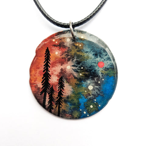 """Swirling Skies"" Pendant ORIGINAL"