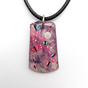 """Purple Butterflies"" Pendant ORIGINAL"