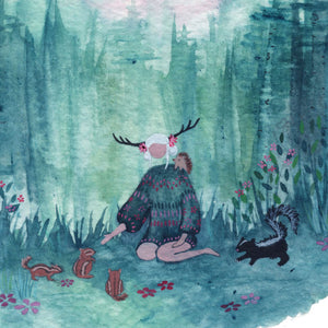 """Asha in the Forest"" Wall Art **PRINT**"