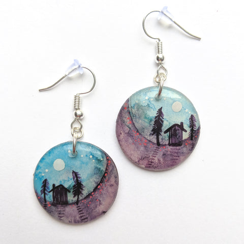 """Moon House"" Earrings ORIGINAL"