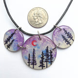 """Pines in Purple"" 3 Piece Necklace ORIGINAL"
