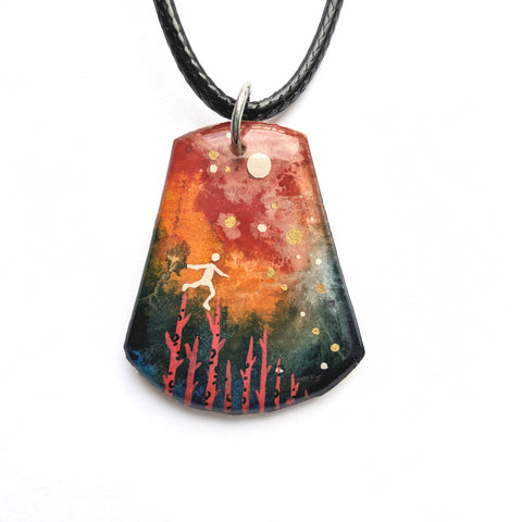 """Walking on Tree Tops"" Pendant ORIGINAL"