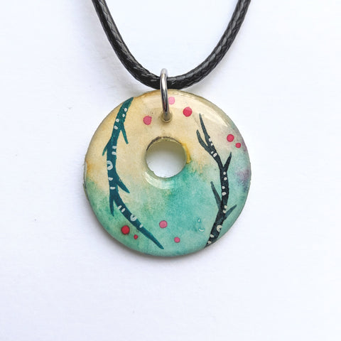 """Inside out Birches"" Pendant ORIGINAL"