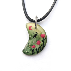 Flying over Flowers Pendant PRINT