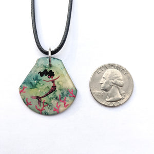 Mermaid in the Coral Pendant PRINT