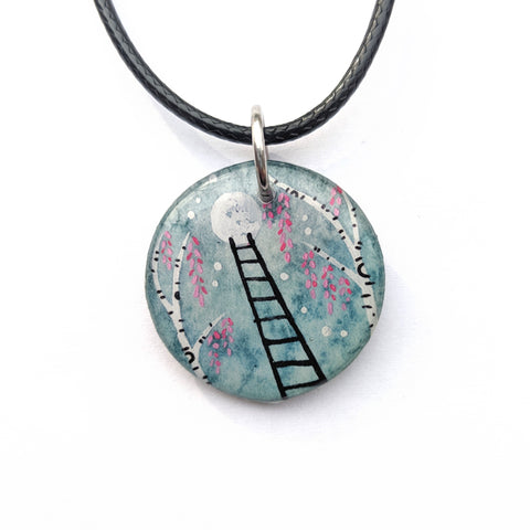 Ladder in the Birches Pendant PRINT