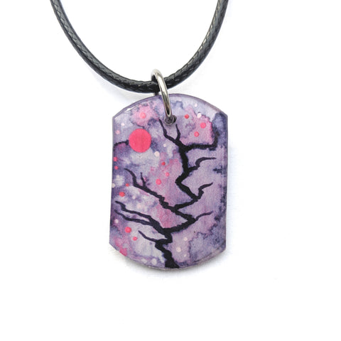 Crooked Purple Pendant PRINT