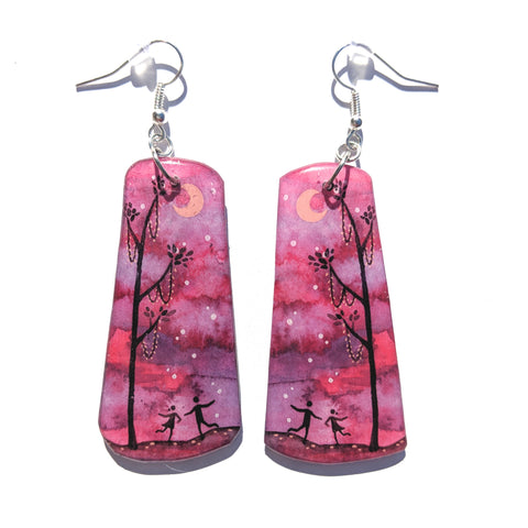 Dancing in the Moonlight Earrings PRINT