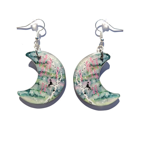 Just Sittin in the Tree Earrings PRINT