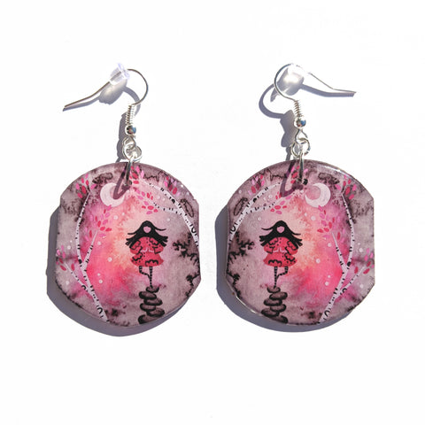 Sparrow Balancing Earrings PRINT