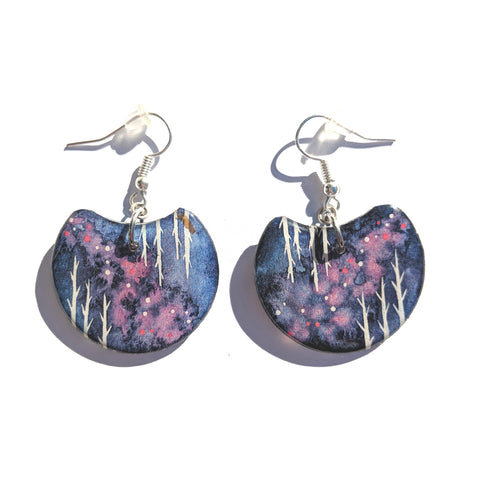 Flipping Birches Earrings PRINT