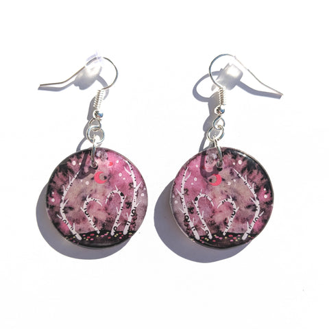 Heart in Birches Earrings PRINT