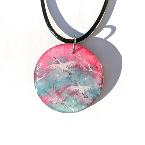 Cranes in Flight Pendant PRINT