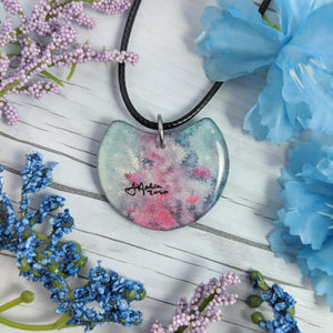 Fairy in the Flowers Pendant Print