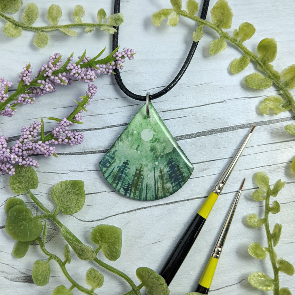 In the Green Trees Pendant Print
