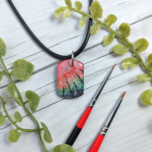 Multi Color Forrest Pendant Print