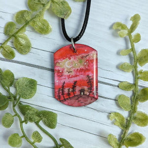 Strawberry Cabin Pendant Print