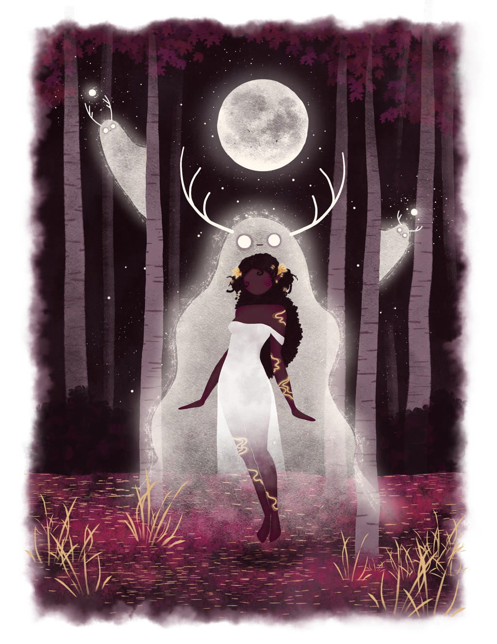 "Limited Edition ""Princess Irelia of the Spirit Forest"" 11"" x 14"" Wall Art **PRINT**"