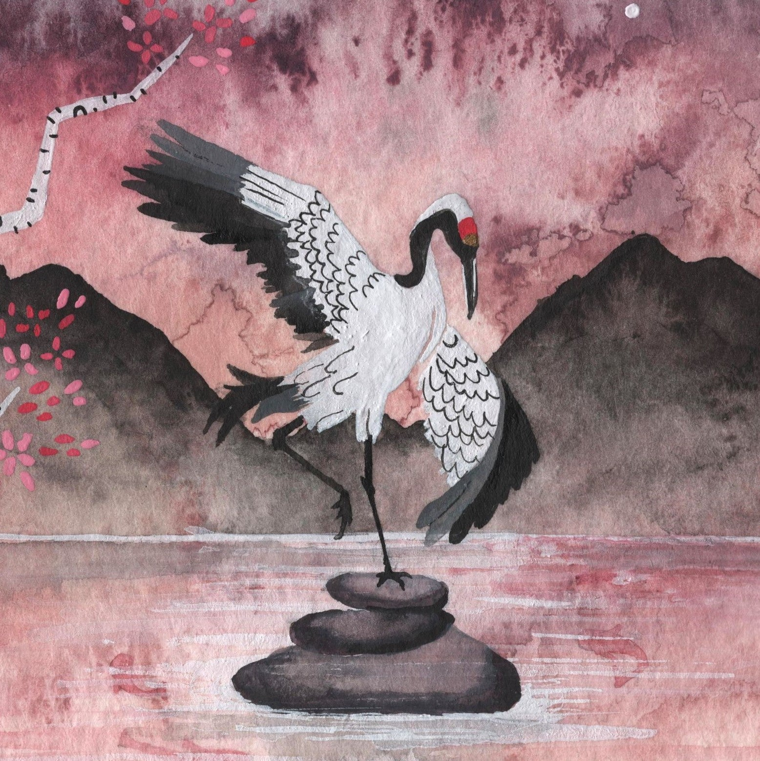 """Sparrow and the Crane"" Wall Art **PRINT**"