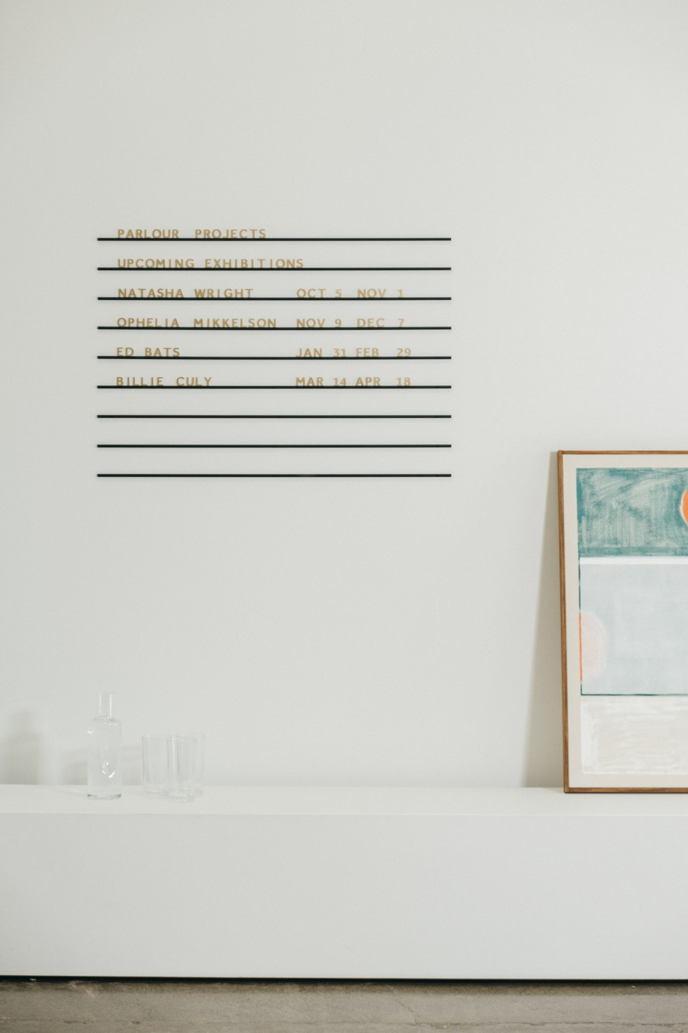 brass menu board