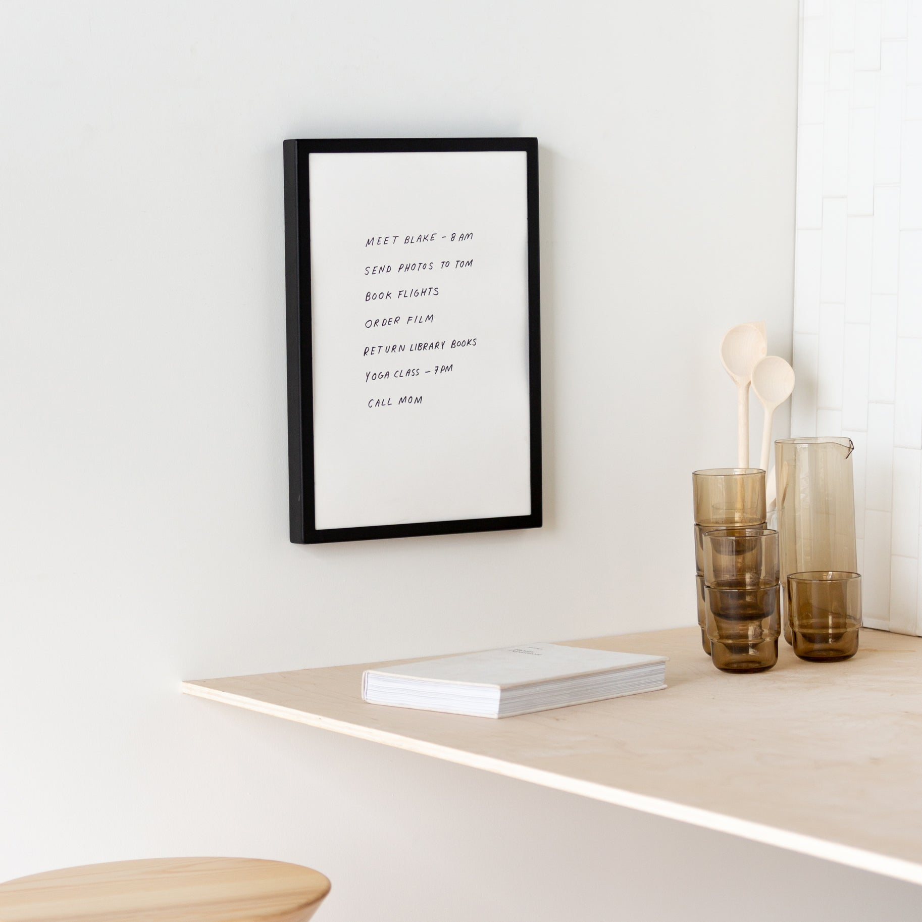 wall-mounted paper frame
