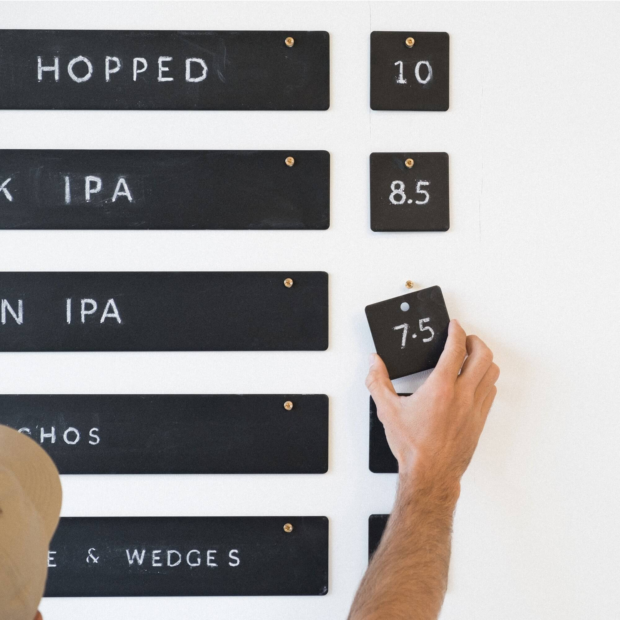 How to install the George & Willy market chalkboard for displaying menus, to-do lists, specials, coffee menus, or wedding signs