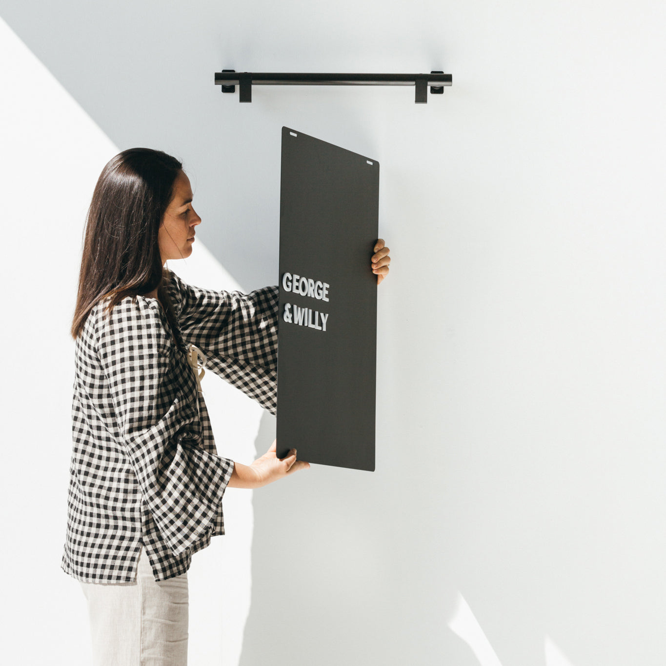 The Hanging Menu Board - can be flipped around to display multiple menus