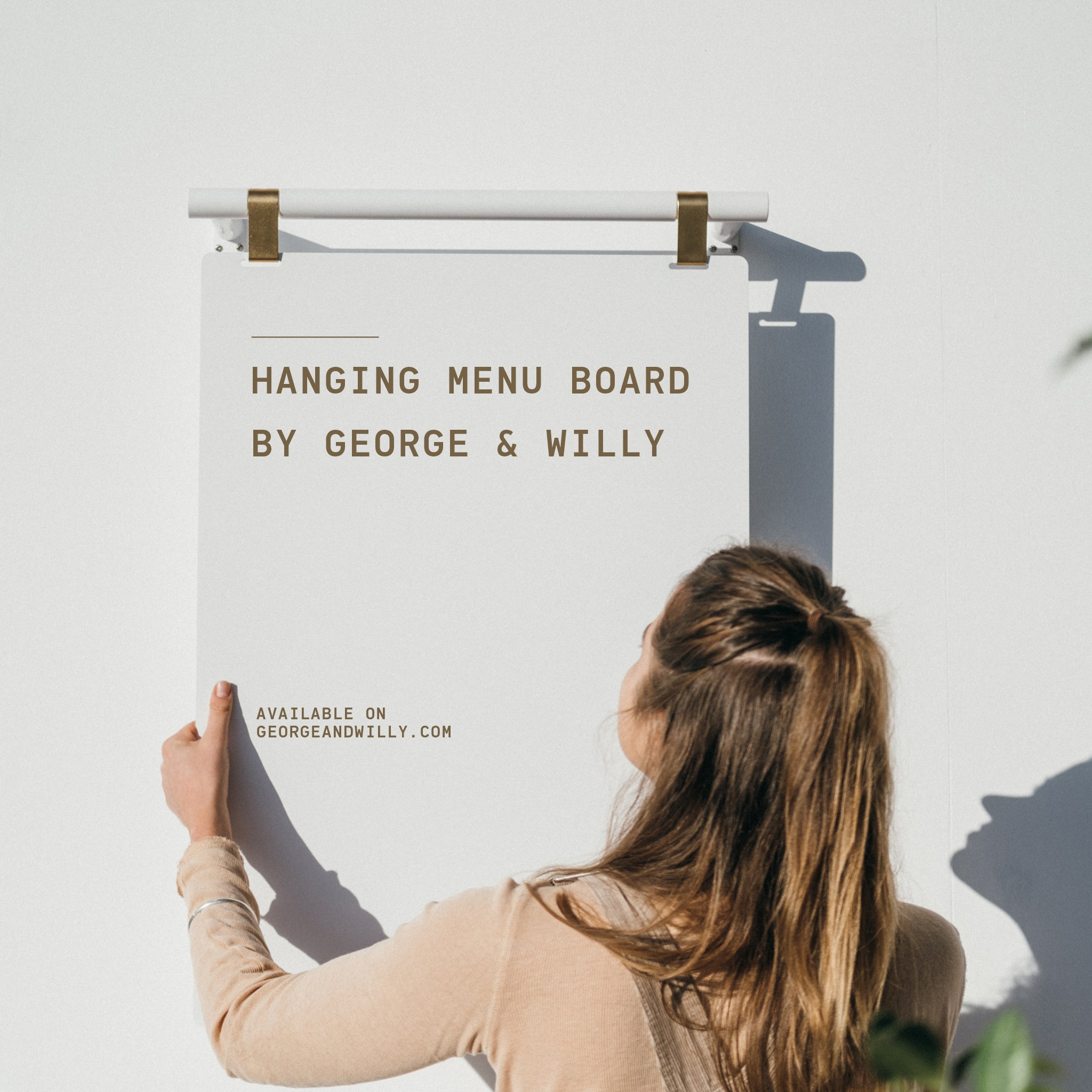 Installing the George and Willy Hanging Menu Board