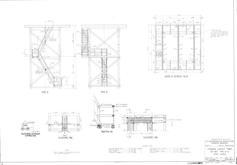 forestry fire lookout tower plans  u2013 george and willy