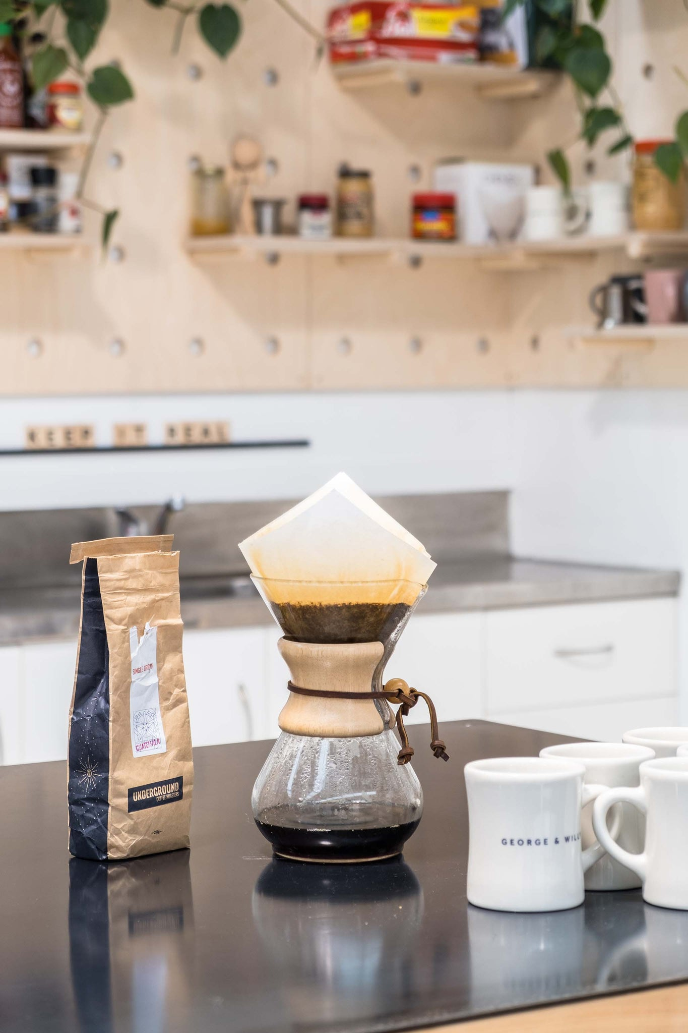 morning cup of coffee and chemex