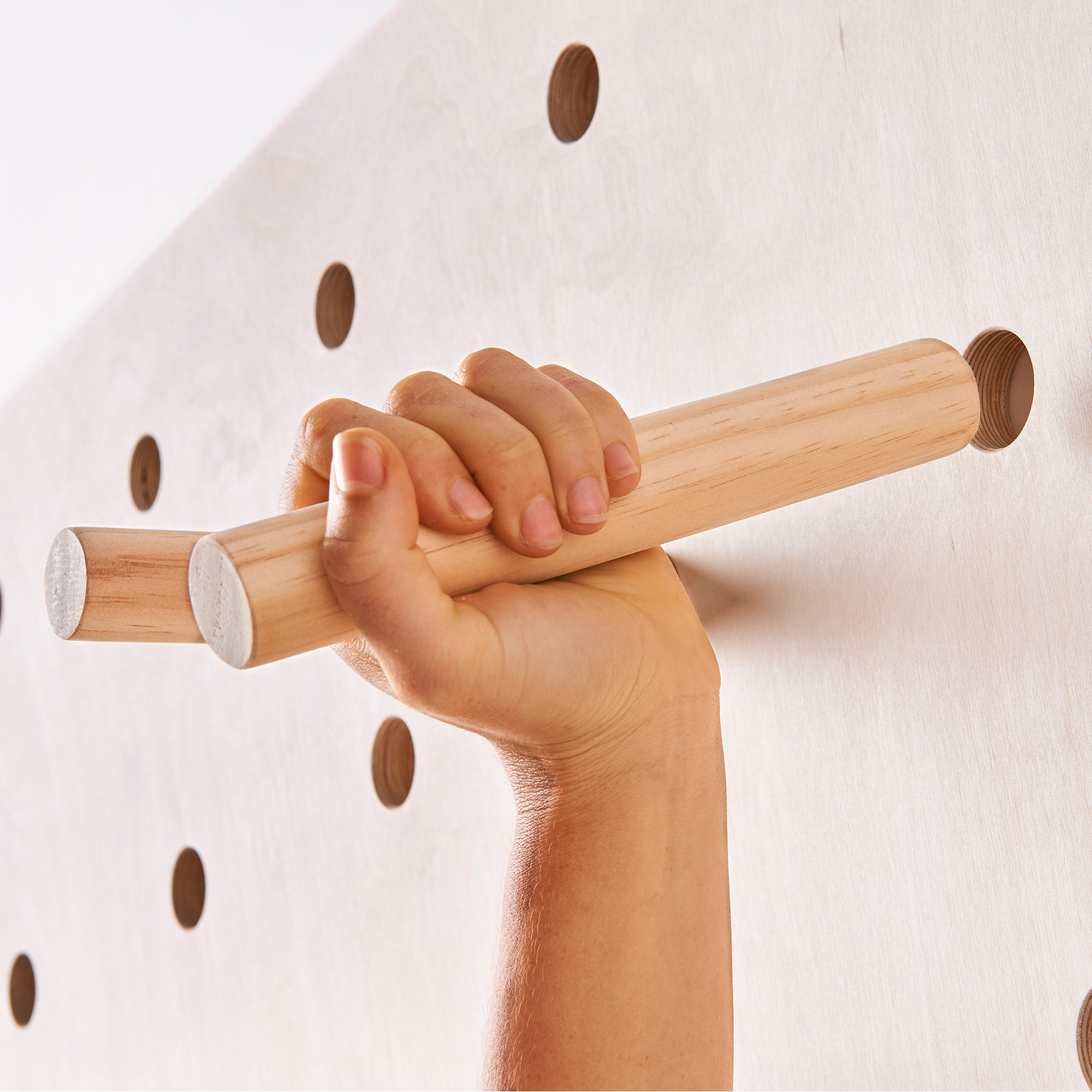 Pegboard with Shelves