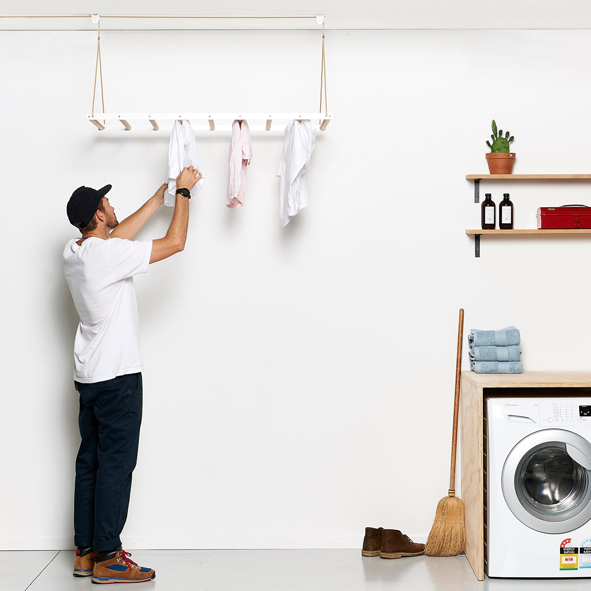 White Hanging Drying Rack