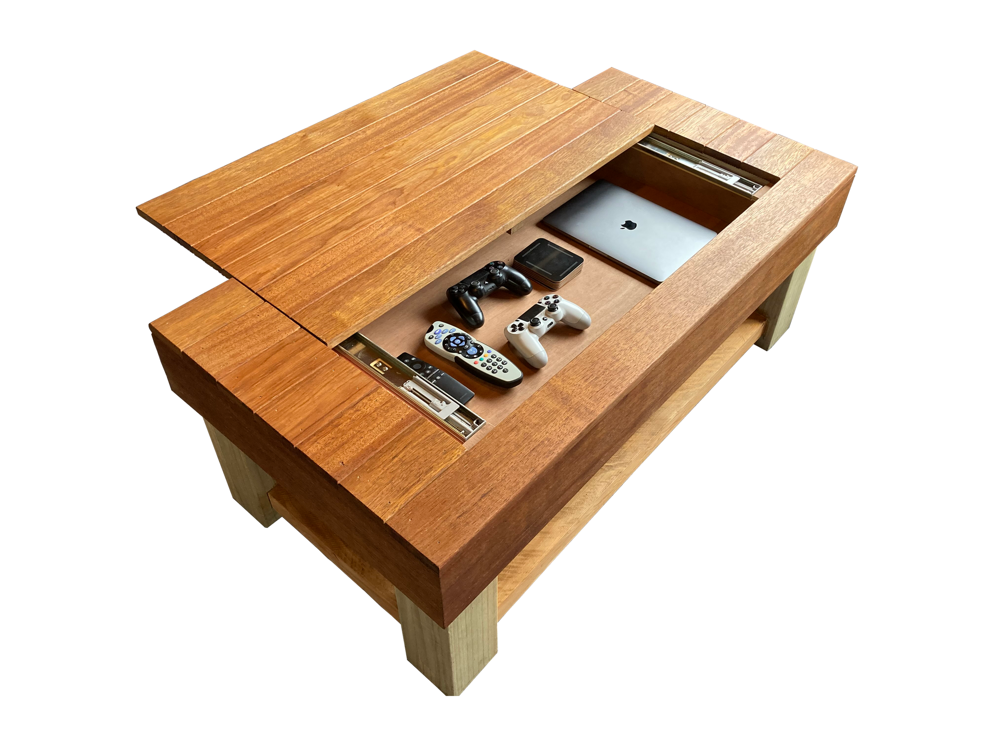 Coffee Table with Compartments