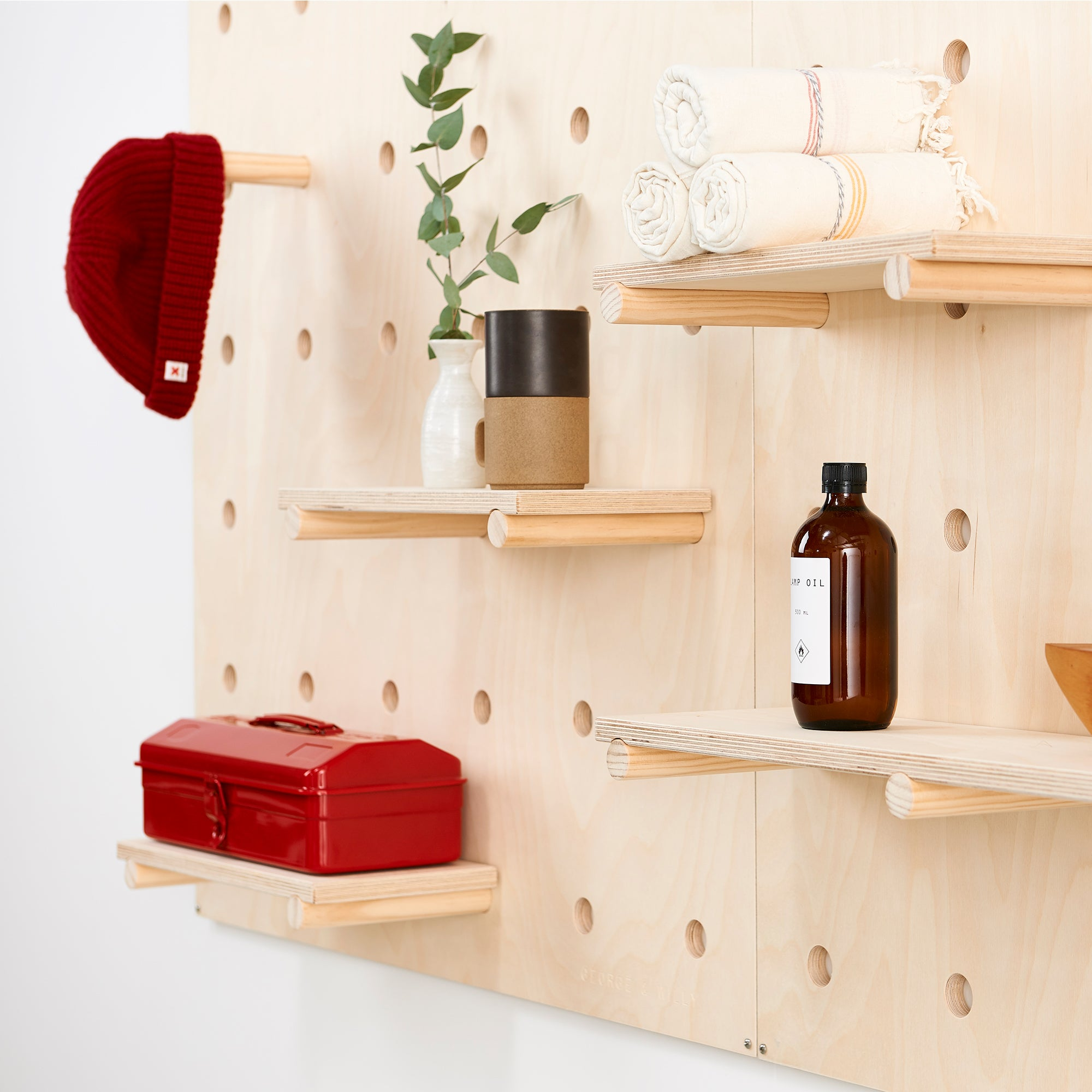 Pegboard with Wooden Pegs