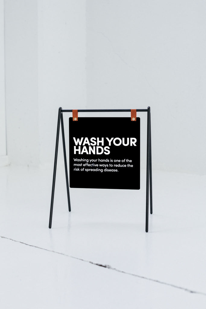 Mini sandwich board a-frame countertop sign