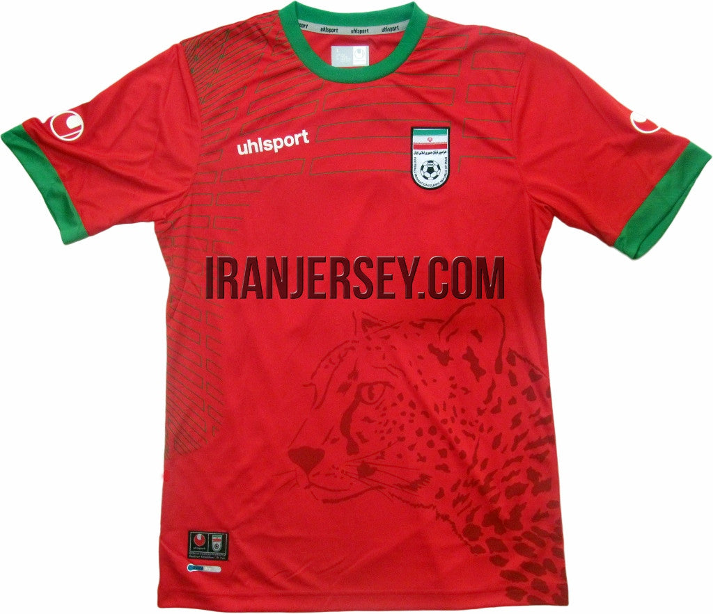 ef0459ae9 Iran National Team Authentic 2014 World Cup Kit Red