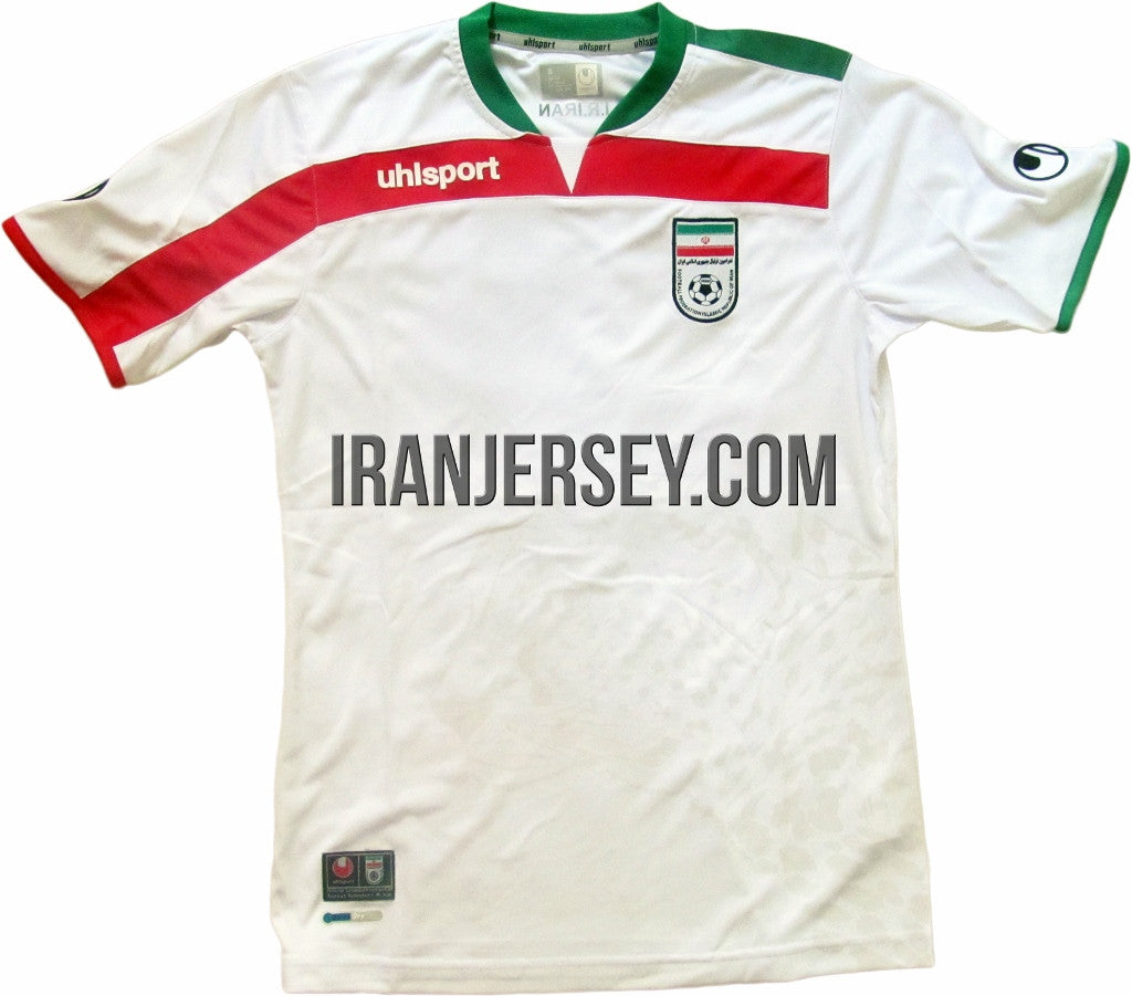 huge selection of fa3bc d5caf Iran National Team Authentic 2014 World Cup Kit White | Iran ...