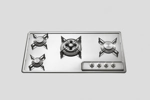 BUILT-IN STAINLESS STEEL HOB F 489/3GTC