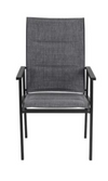 High Garden Stationary Steel Sling Chair - Hardware