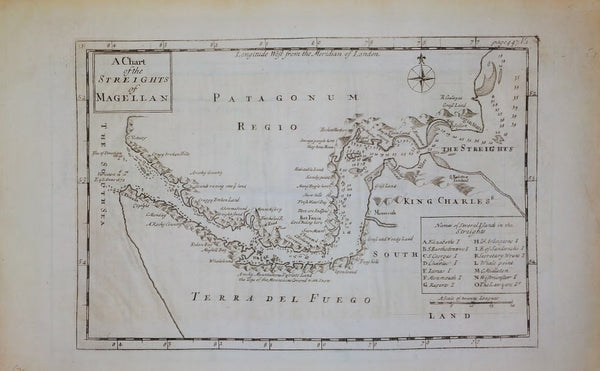 A CHART OF THE STREIGHTS (STRAITS) OF MAGELLAN, c.1775