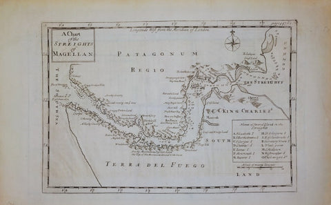 NOT STATED - A CHART OF THE STREIGHTS (STRAITS) OF MAGELLAN, c.1775