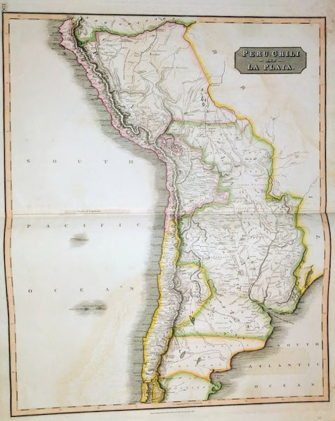 Peru, Chili And La Plata, 1816 by Thomson.