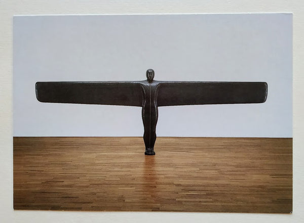 'A CASE FOR ANGEL III' POSTCARD SIGNED TO THE VERSO BY ANTONY GORMLEY