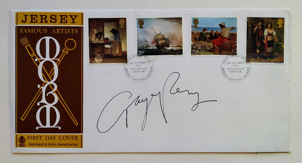 JERSEY FAMOUS ARTISTS FIRST DAY COVER SIGNED BY GRAYSON PERRY